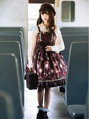 Time Exhibition Classic Lolita Dress JSK by Honey Machine
