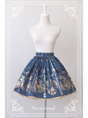 Custom Size Available Golden Hemline Normal Waistline SK - The Mermaids Sing by Souffle Song