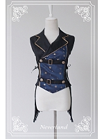 Sleeveless Lace Up On Both Sides Ouji Vest - The Mermaids Sing by Souffle Song