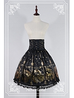 Empire Lace Up Gold Stamping Skirt / SK - The Mermaids Sing by Souffle Song