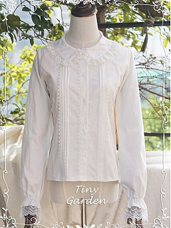 ON SALE-Peter Pan Collar Long Sleeve Blouse by Tiny Garden