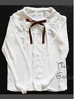 Ruffled Peter Pan Collar Blouse by Tiny Garden