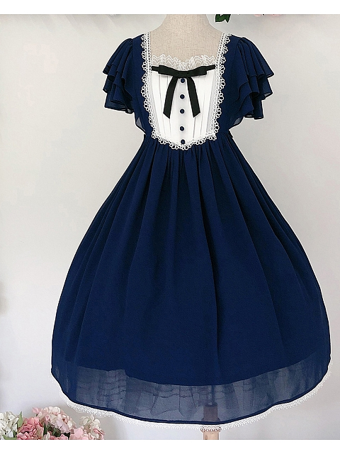 The Memory of Freya  Classic OP Low Collar Version Navy Blue by Unideer