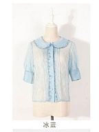 Holy Lily Short-sleeves Doll Collar Blouse by Unicorn Tears