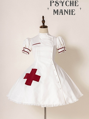 New Color Ange de l'enfer Nurse Style Lolita Dress OP by Unicorn Tears