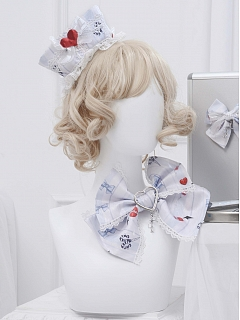 No.404 Palpitate Lolita Dress JSK Matching Bowknot Hairclip by Unnamed Sale