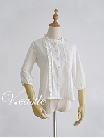 Crew Neck Half Sleeve Blouse by Vcastle