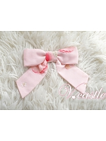 Pink Bow Brooch by Vcastle