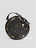 Gold Stamping Constellation Round Handbag by Vcastle