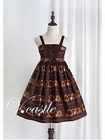 Chocolate Doughnut Print JSK by Vcastle