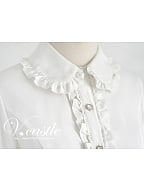 ON SALE-Tie Collar Fit Blouse by Vcastle