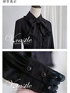 Tie Collar Fit Blouse by Vcastle