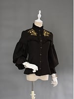 Classical Pattern Embroidery Cotton Blouse by Versailles Closet