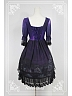 Gorgeous Surface Layer Flowers Detachable Lolita OP Dress - Vatican Under The Moonlight by Souffle Song