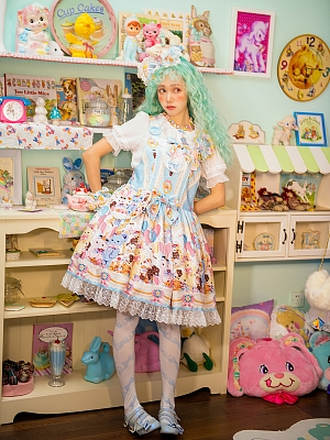 Candy Halloween Strap Dress by Walnut Deer