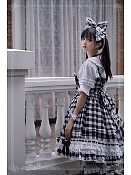 Poem of Rainbow Plaid Version Big Hairclip by Witch of the Heisei