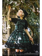 Poem of Rainbow Plaid Version Cloche by Witch of the Heisei