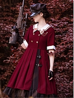 Cool Military Lolita Dress with Free Corset by With PUJI