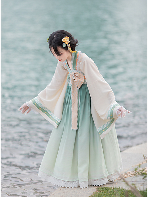 Summer Chiffon Two Pieces Wa Lolita Dress - Pine Tea by With PUJI