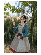 Cotton Country Lolita Dress with Asymmetrical Designed Skirt by With PUJI