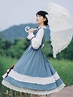 Lena Autumn Long Sleeves Lolita Dress OP by With PUJI