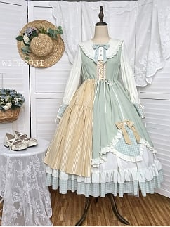 Minggu Light Green Vintage Dress OP by With PUJI