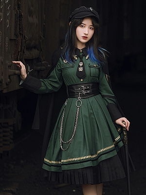 Emberless Land Military Lolita Dress OP / Cape by With PUJI