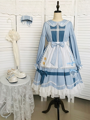 Clara Rhapsody Nurse Lolita Dress OP with Apron by With PUJI