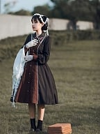 Letter from Joe Vintage Lolita Dress OP with Apron by With PUJI