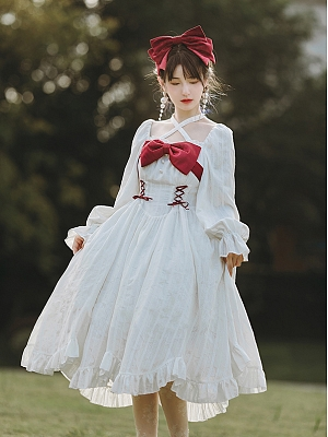 Romance Elegant Lolita Dress OP by With PUJI