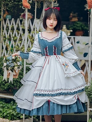 Rime Country Style Lolita Dress OP by With PUJI