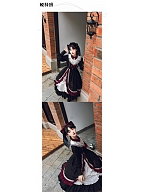 Winter Moon and Stars Lolita Dress Asymmetric Skirt OP by With PUJI