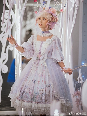 Morning Mist Garden Tea Party Lolita Dress OP by Wanyeji Couture