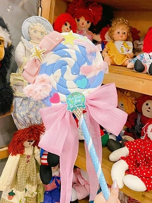 Rainbow Doll House Lolita Dress Matching Lollipop Toy by C C Cat