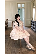 Knicks Kiss Classic Lolita Heart-shaped Neckline Dress by YGS