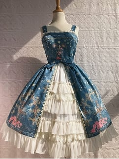 Peacock Cross Chiffon Dress JSK Lolita by Yilia Lolita