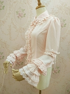 Double Layer Peter Pan Collar Chiffon Lolita Shirt by Yilia Lolita