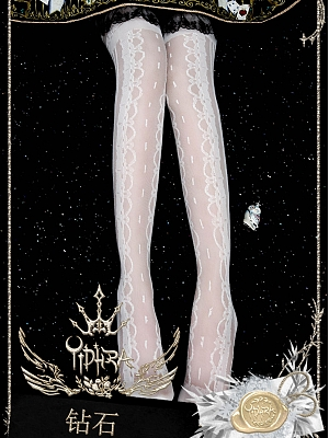 Diamond Glass Filament Stockings by Yidhra