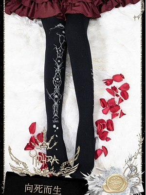 To Die To live Gothic Pantyhose by Yidhra