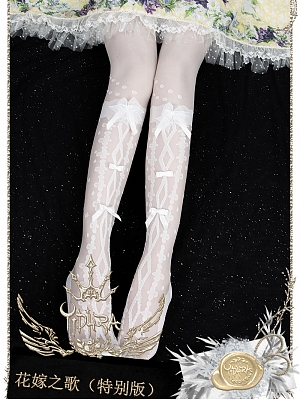 Flower Wedding Dress Sprcial Version Over-knee Stockings by Yihra