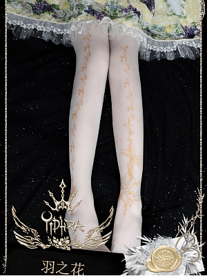 Flower Feather Summer Pantyhose by Yihra