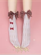 Summer Plaid Bowknots Socks by Yidhra
