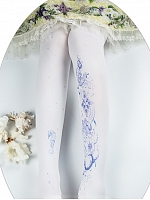 Moon and Sea Printed Pantyhose by Yidhra