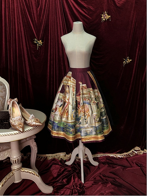 Coronation Printing Skirt by Yolanda