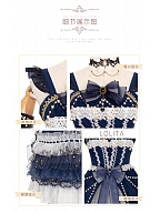 Starry Night Tea Party Lolita Dress JSK Set by YINGLUOFU
