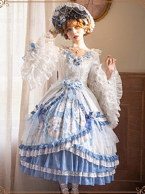 Vivienne Tea Party Hanayome Lolita Dress OP Full Set by YINGLUOFU