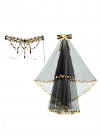 Golden Lily Gothic Lolita Dress JSK Matching Choker Veil by YINGLUOFU