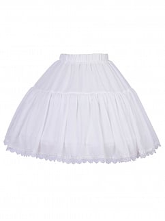 White Tea Party Bell / A Shaped Lolita Petticoat Underskirt by YINGLUOFU