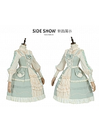 March Mulberry Country Lolita Dress Cotton JSK Set by YINGLUOFU