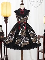 Pre-order Chinese Crane Qi Style Lace-up Back JSK by Yotsuba's home